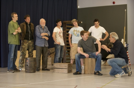"The cast of ""The Grapes of Wrath"" during rehearsals at Chichester Festival Theatre. (c) CFT"